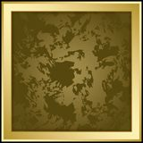 Gold vector frame on dark grunge background - illustration Royalty Free Stock Photography