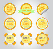 Gold vector icons. Royalty Free Stock Image