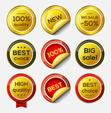 Gold vector icons. Royalty Free Stock Photography
