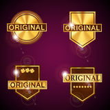 Gold vector labels Royalty Free Stock Photography