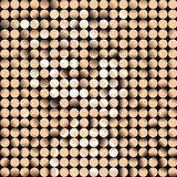 Gold vector mosaic. Gold mosaic made from circles Royalty Free Stock Photography