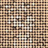 Gold vector mosaic Royalty Free Stock Photography