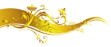 Gold vegetative ornament. Vegetative ornament, gold color. A vector illustration Royalty Free Stock Images