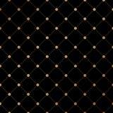 Gold veil seamless pattern on black background. Vector Illustration. Stock Photo