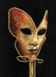 Gold Venetian Mask Royalty Free Stock Photos