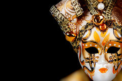 Gold Venetian mask Royalty Free Stock Photography