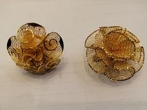 Gold very sample fanger ring stock image