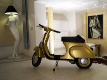 Gold vespa Stock Images