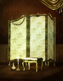 Gold Victorian dressing room furniture Royalty Free Stock Image