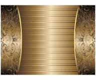 Gold Vintage Background Stock Photography