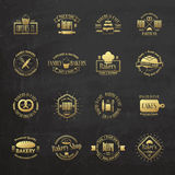 Gold vintage bakery badges, labels and logos Stock Photo