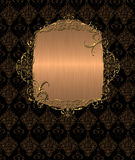 Gold vintage banner Royalty Free Stock Photography