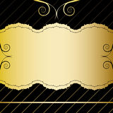 Gold Vintage Card. Black & gold invitation card design Royalty Free Stock Photo