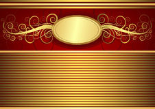 Gold vintage card (vector) Royalty Free Stock Photography