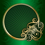 Gold vintage circle frame stock illustration