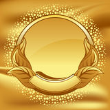 Gold vintage circle frame vector illustration