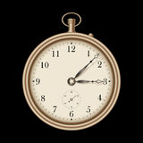 Gold vintage clock - vector Royalty Free Stock Photos