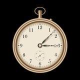 Gold vintage clock - vector vector illustration