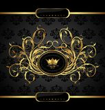 Gold vintage for design packing Stock Photography