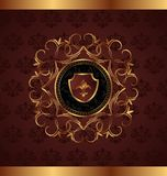 Gold vintage for design packing Royalty Free Stock Image