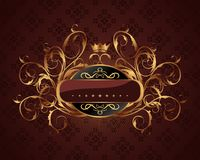 Gold vintage for design packing Royalty Free Stock Images