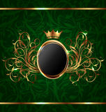 Gold vintage for design packing Royalty Free Stock Photos