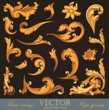 Gold Vintage Elements. royalty free illustration