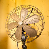 Gold vintage fan Royalty Free Stock Photography