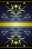 Gold vintage floral background stock illustration