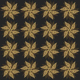 Gold vintage flowers, seamless ornament. Vector Royalty Free Stock Photography