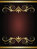 Gold vintage frame Royalty Free Stock Photos