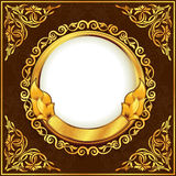 Gold vintage frame vector illustration