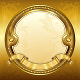 Gold vintage frame stock illustration