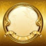 Gold vintage frame Stock Image