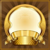 Gold vintage frame royalty free illustration