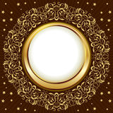 Gold vintage frame Stock Images