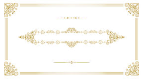 Gold vintage frame Royalty Free Stock Images