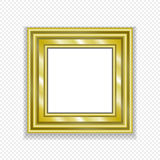 Gold Vintage Frame. Decorative Vector  Picture Royalty Free Stock Image