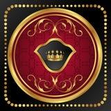 Gold vintage frame for design packing Royalty Free Stock Image