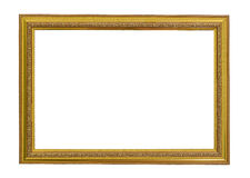 Gold vintage frame. Elegant vintage gold/gilded picture frame Royalty Free Stock Photos