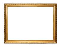 Gold vintage frame. Isolated on white background Royalty Free Stock Image