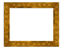 Gold vintage frame isolated. On white background Royalty Free Stock Photos