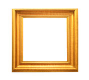 Gold vintage frame isolated on white Royalty Free Stock Photo