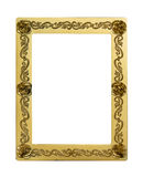 Gold vintage frame isolated on white background Royalty Free Stock Image