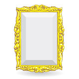 Gold vintage frame Royalty Free Stock Image