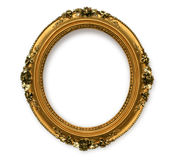Gold vintage frame. Isolated on white background with clipping path Royalty Free Stock Photo