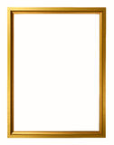 Gold vintage frame  on white background Royalty Free Stock Photo