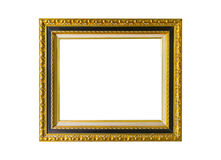 Gold vintage frame on white isolated background with clipping pa Royalty Free Stock Image