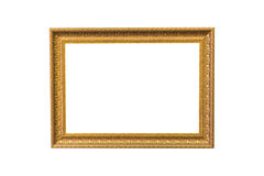 Gold vintage frame on white isolated background with clipping pa Stock Images
