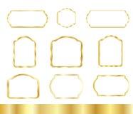 Gold Vintage frames set Royalty Free Stock Photos